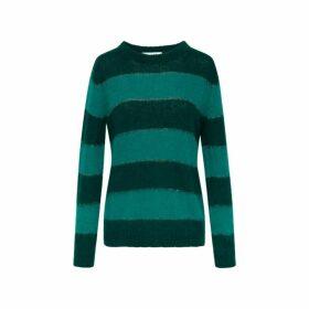 Gerard Darel Striped Mohair Shiloh Sweater With Lurex