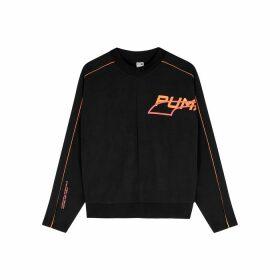 Puma Evide Black Printed Jersey Sweatshirt