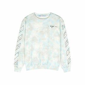 Off-White Tie-dyed Cotton Sweatshirt