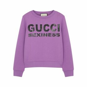 Gucci Gucci Sexiness Purple Cotton Sweatshirt