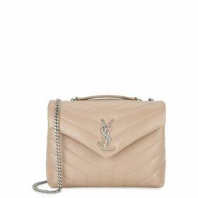 Saint Laurent Loulou Small Almond Leather Shoulder Bag