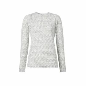 Burberry Long-sleeve Monogram Devore Top