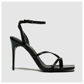 Schuh Black & Silver Adore High Heels