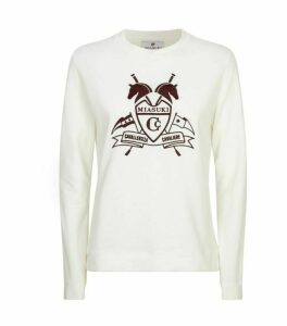 Miasuki Embroidered Crest Sweatshirt