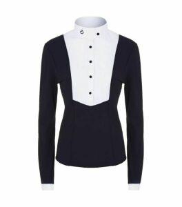 Cavalleria Toscana Pleated Bib Long Sleeve Shirt