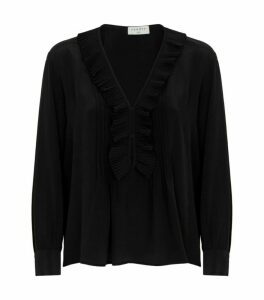 Sandro Paris Ruffle Trim Blouse