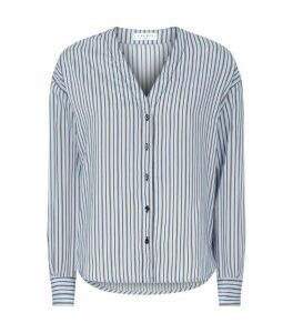 Sandro Paris Poplin Stripe Blouse