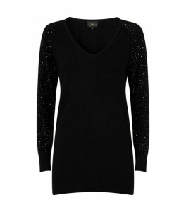 William Sharp Swarovski Embellished Cashmere Sweater