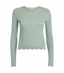 FRAME Scalloped Cashmere Sweater
