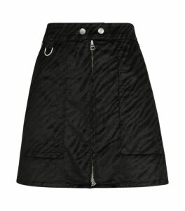 Rag & Bone Tonal Zebra Print Denim Skirt