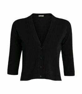 D.Exterior Crop Knitted Cardigan