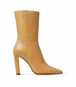 Jimmy Choo Merle 100 Leather Boots