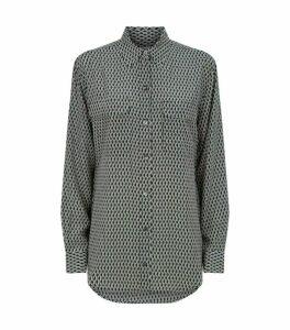 Equipment Silk Geometric Print Shirt