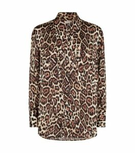 Equipment Jaguar Print Satin Shirt
