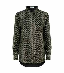 Equipment Metallic Pattern Shirt
