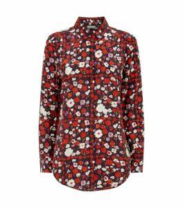 Equipment Silk Floral Print Shirt