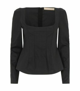 Brock Collection Quaderno Long-Sleeved Fitted Top