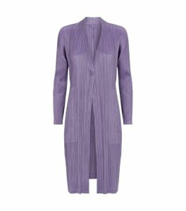 Pleats Please Issey Miyake One-Button Cardigan