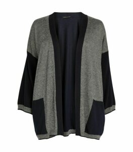 Marina Rinaldi Contrast Sleeve Cardigan