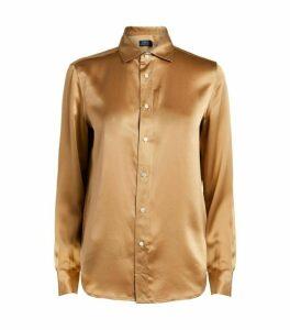Ralph Lauren Silk Satin Shirt