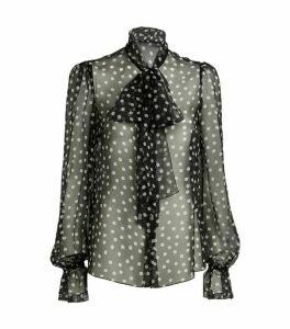 Dolce & Gabbana Sheer Polka-Dot Blouse