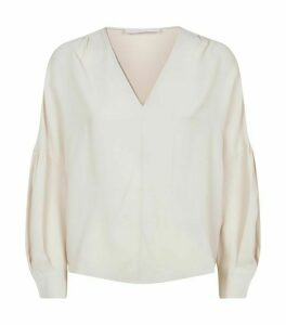 Fabiana Filippi Embellished V-Neck Blouse