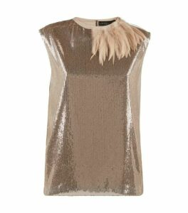 Fabiana Filippi Embellished Feather Top