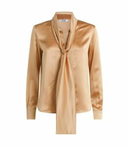 Max Mara Silk Georgette Pussybow Blouse