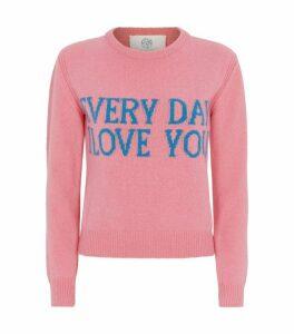 Alberta Ferretti Cashmere Slogan Sweater