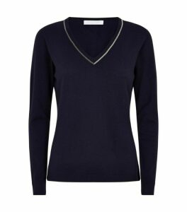 Fabiana Filippi Embellished V-Neck Sweater