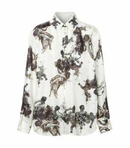 Burberry Silk Angel Print Shirt