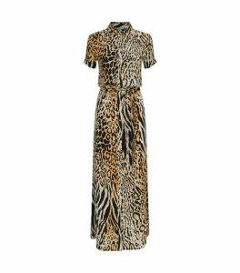 Melissa Odabash Naomi Cheetah Print Shirt Dress
