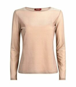 Max Mara Long-Sleeved Glitter Top