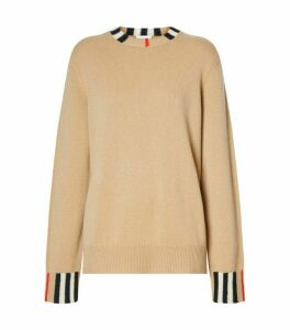 Burberry Icon Trim Cashmere Sweater