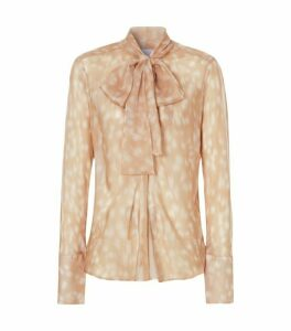 Burberry Deer Print Pussybow Blouse