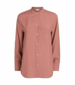 Vince Mandarin Collar Shirt