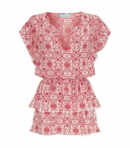 Melissa Odabash Keri Tiered Mini Dress