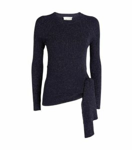 3.1 Phillip Lim Tie-Waist Lurex Sweater