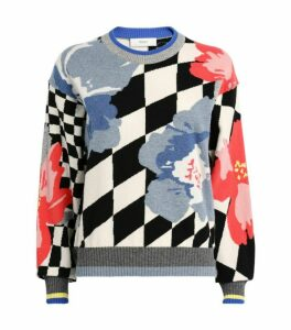 Pringle of Scotland Abstract Floral Sweater