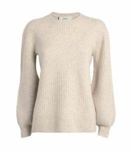 Pringle of Scotland Ribbed Blouson-Sleeve Sweater