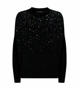 St. John Crystal-Embellished Cashmere Sweater