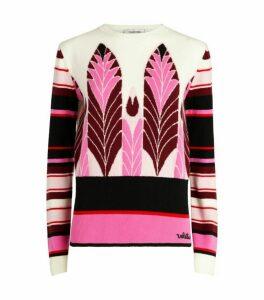 Valentino Pop Feathers Print Sweater