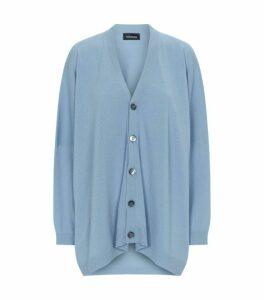 Eskandar V-Neck Button Up Cardigan