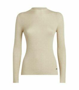 Akris Cashmere-Silk Ribbed Sweater