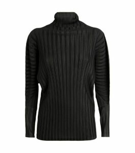 Pleats Please Issey Miyake Pleated High-Neck Top