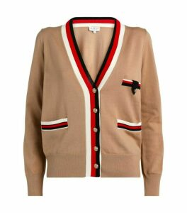 Claudie Pierlot Stripe Trim Cardigan