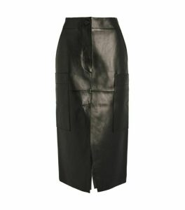 Petar Petrov Ria Leather Midi Skirt