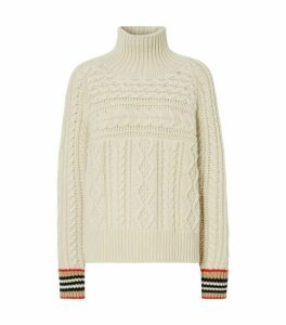Burberry Icon Stripe Cuff Sweater
