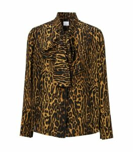 Burberry Leopard Pussybow Blouse