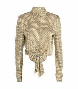 Jonathan Simkhai Chain Print Twist Shirt